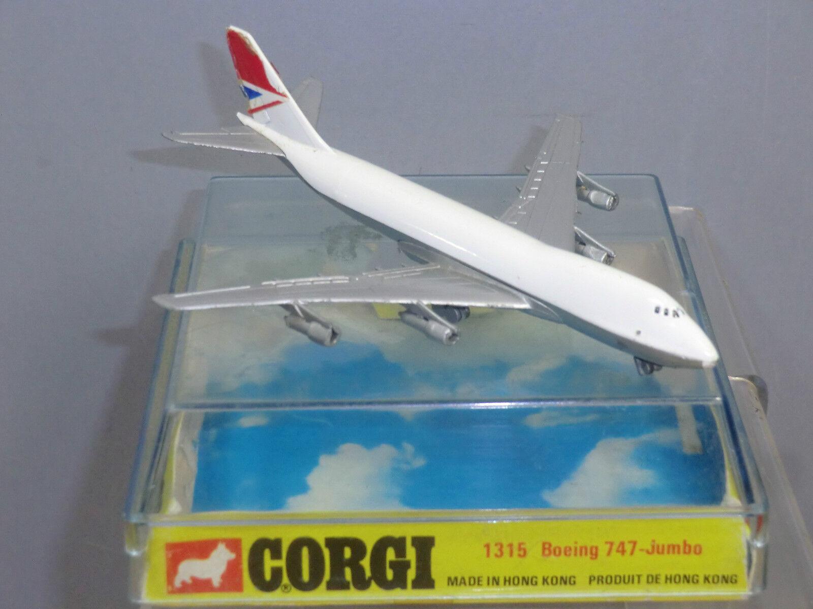 VINTAGE CORGI TOYS MODEL No.1315 1 BOEING 747   JUMBO   PASSENGER  AIRCRAFT MIB