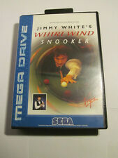 SEGA MEGA DRIVE JIMMY WHITE'S WHIRLWIND SNOOKER  WITH BOX AND INSTRUCTIONS