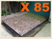 10x8.6 Feet Eco Gravel Grids +10x9 Membrane Sheet Tough Eco Garden Shed Base Kit