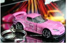 Custom Key Chain Honda S2000 pink from 2 Fast 2 Furious