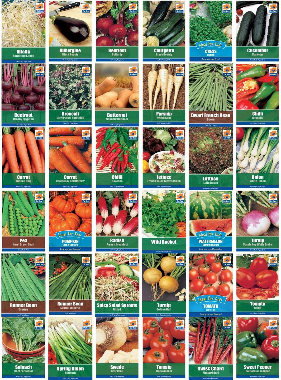 Fresh Vegetable Herb Fruit Seeds Grow Your Own Garden Indoor Outdoor De Ree