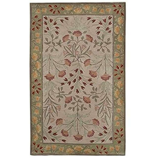 Adeline Multi Hand Tufted Woolen Area Rugs and Carpet..(3x5) feet