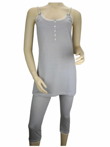 Femmes Pyjama Pyjama 3//4 Pantalon Capri ärmelos nuit d/'été Linge TCM Tchibo