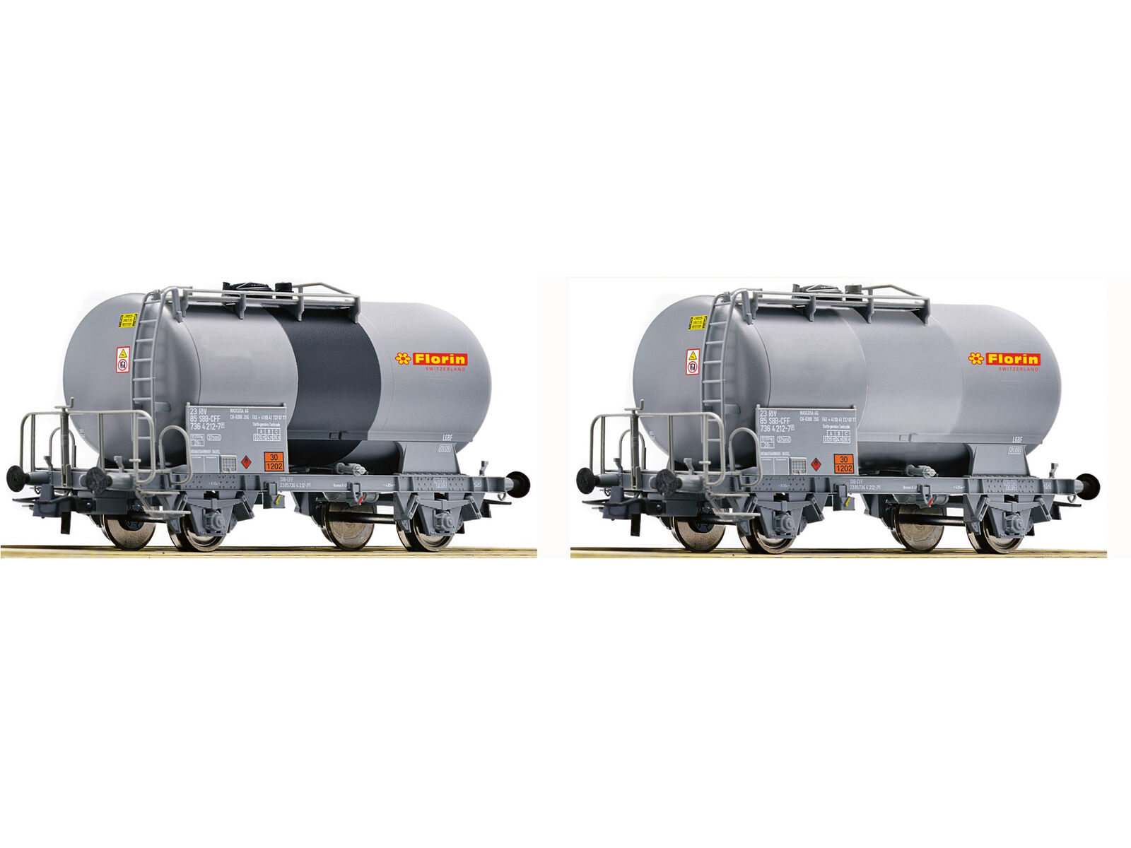 Roco 67168 Güterwagenset Kesselwagen Florin SBB 2x H0