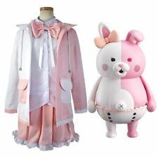 Danganronpa Dangan-Ronpa 2 Monomi Mix Pink//White Cosplay Costume Outfits Splice
