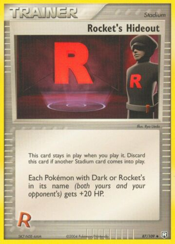 Reverse Holo Uncommon Cards Pokemon TCG EX Team Rocket Returns