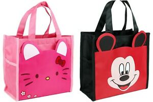 Hello Kitty Micky Mouse Waterproof Carry Tote Lunch Box Organise Small Carry Bag