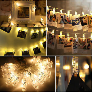 20-LED-Card-Photo-Clip-String-Fairy-Lights-Battery-Christmas-Party-Wedding-light