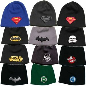 DC-Comics-Superhero-Film-Superhelden-Logo-Muetze-Cap-Beanie-DC-Marvel-Superhero