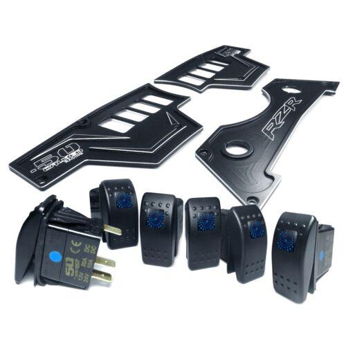Black 3 Pc Polaris RZR XP1000 900S Dash Panel Rocker Switches Waterproof Upgrade