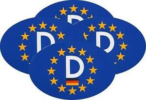 4-vier-Stueck-D-Schild-Euro-Europa-D-Schild-13-x-9-cm-Auto-Aufkleber-RICHTER-HR