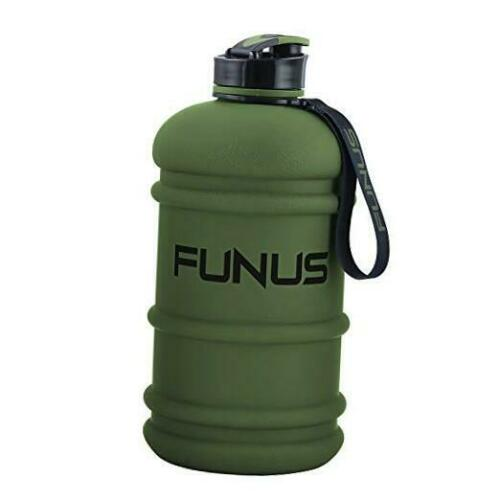 Wetry 2.2Liters Water Bottle Dishwasher Safe for Gym Workout Giant Army Green