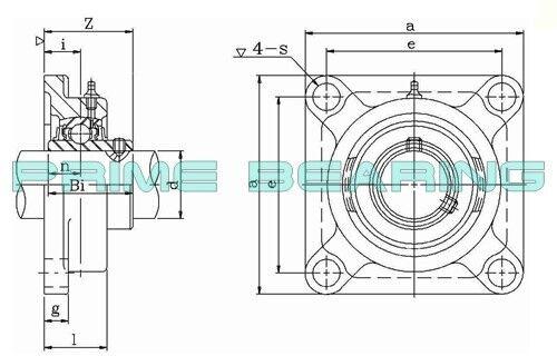 High Quality! UCF205-25  25mm  4-Bolt Flange Bearing