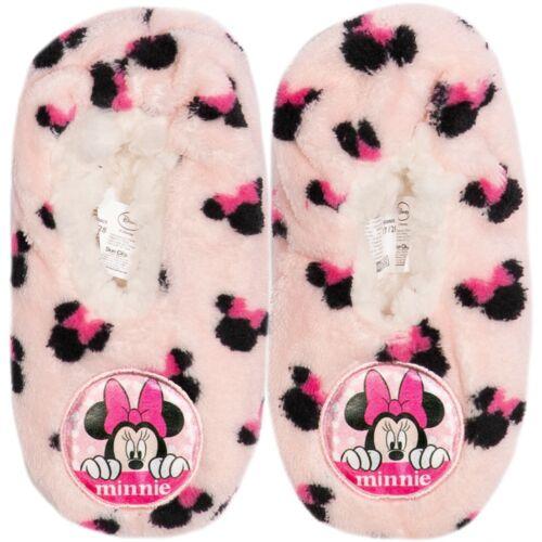 Disney Minnie Mouse Original Fille Pantoufles Chaussettes Chaud et Confortable