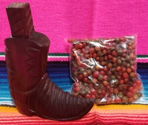 Moledor Chiltepin de Palo Fierro + 1 bolsa de chiltepin de 38 gramos muy picoso