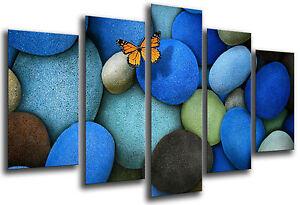 Cuadro Moderno Fotografico Abstracto, Priedras Azules, 165 x 62 cm ref. 26321