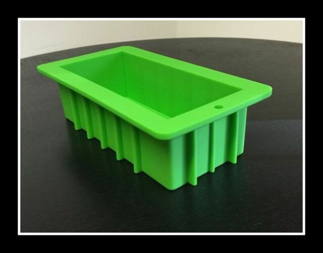 Green Silicone Loaf SOAP Mold Mould 1 kg Heavy Duty - Best Ever for Soap Making!