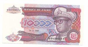 Zaire-10-000-100000-zaires-1989-FDS-UNC-pick-38-lotto-2420