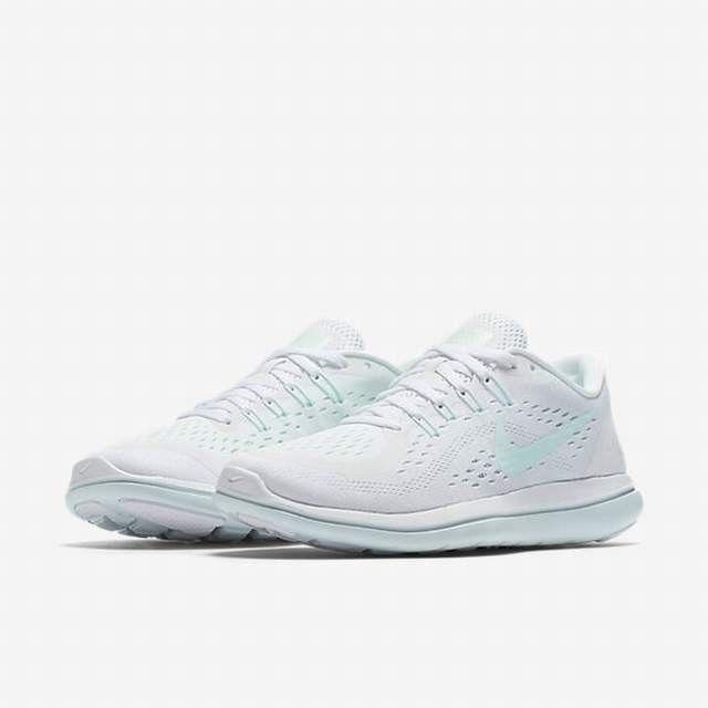 Nike Flex 2017 RN Womens 898476 101 White Glacier Blue Running Shoes Size 11