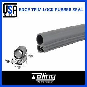 "180/"" Gray Rubber Seal Door Trunk Edge Metal Trim Guard Ornament All-Weather"