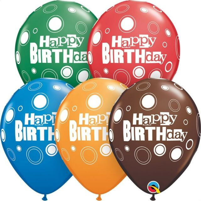 """Ages 6,7,8,9,10 Birthday Helium Quality 6 x Qualatex 11/"""" Latex Party Balloons"""