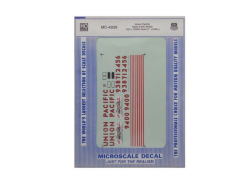 HO Union Pacific Dash-840C GE/'s 1000th #9400 1990 Decals  Microscale #MC-4039 b