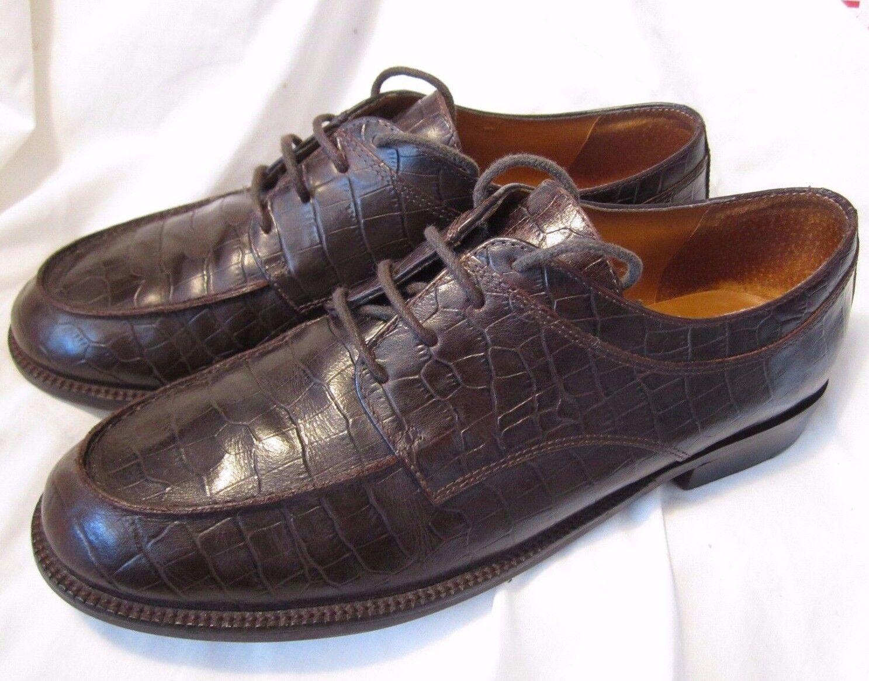 Lauren Ralph Lauren LRL Leather Alligator marron Oxford chaussures femmes 8B Lagenlook