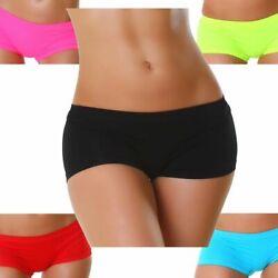 Panty Hose einfarbig Shorts Hot-Pants Sport Strand Sommer Gummizug Gogo Größe