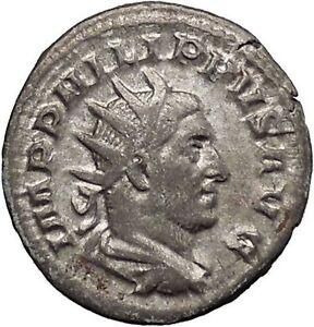 Philip-I-the-Arab-244AD-Rare-Silver-Ancient-Roman-Coin-Four-standards-i48203
