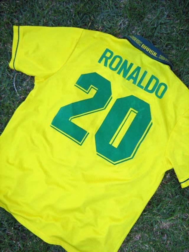 BRAZIL RONALDO USA WC 1994 AUTHENTIC PLAYERS JERSEY