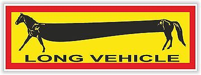 1x Horse Long Vehicle Warning Funny Sticker Decal for Bumper Truck Carriage Door