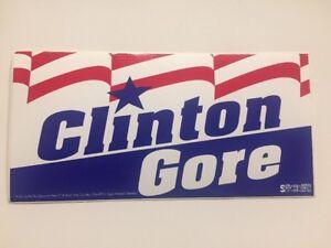 Vintage-1992-Bill-Clinton-amp-Al-Gore-Presidential-Campaign-Bumper-Sticker-Ohio