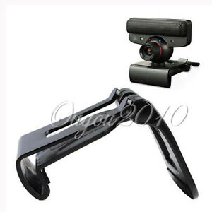 New-Black-TV-Clip-for-Sony-PS3-Move-Eye-Camera-Mount-Holder-Stand-Adjustable