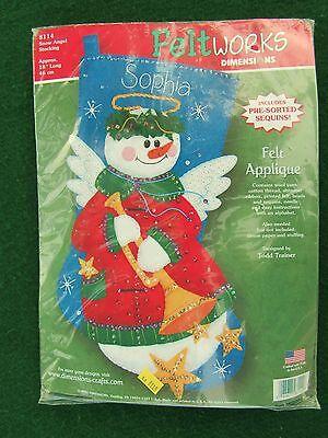 Dimensions Felt Snow Angel Christmas Stocking Feltworks ...