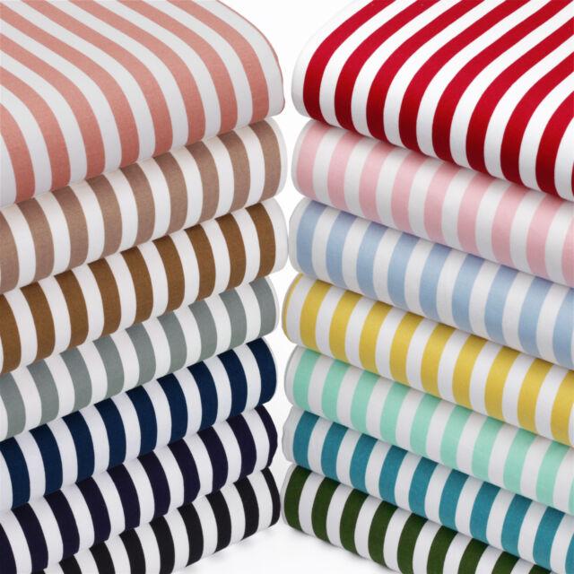 100% Cotton Fabric FQ - 8.5mm Stripe Vintage Pirate Candy Retro Dress Craft VK37