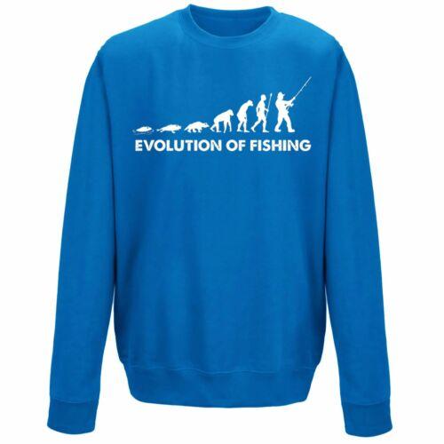 Evolución de pesca pescador Sudadera Suéter Unisex Pescador Gracioso Eslogan