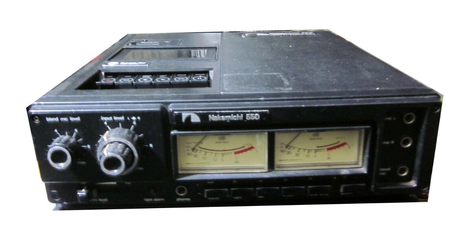 Nakami  550 Professionell 3 Mikrofon Feld Tragbar Kassette Rekorder Voll