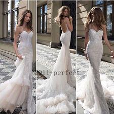 2017 Real Pictures Wedding Dresses Pearls Sweetheart Mermaid Custom Bridal Gowns