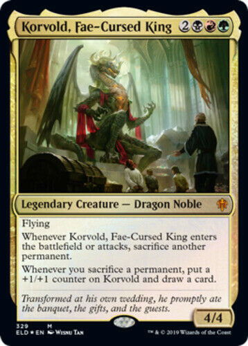 1x Korvold Foil Brawl Deck Exclusive NM-Mint Fae-Cursed King English Thron