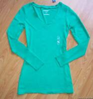 Old Navy Medium Caribbean Green Vneck Pullover L/s Shirt M