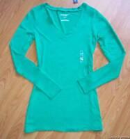 Old Navy Medium Caribbean Green Vneck Pullover L/s Shirt M