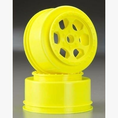 For Losi XXX-SCT or XXX-SCB De Racing DER-SCT-LFY Yellow Triidad Front Wheel 2
