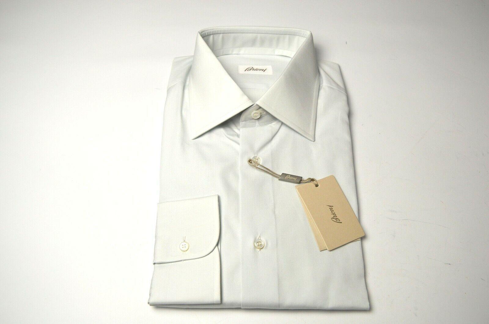 NEW  BRIONI Dress  hemd 100% baumwolle Größe 16 Us 41 Eu  (ARA231)