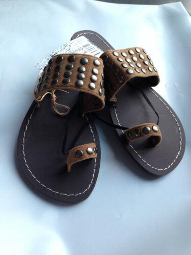 BNWT Older Girls Sz 3 Smart Tan Rivers Doghouse Bronze Studded Sandals RRP $30