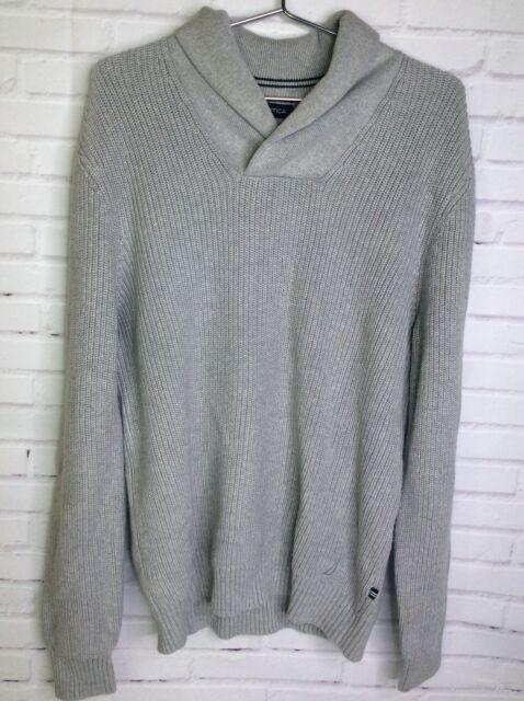 Nautica Mens Long Sleeve Zip Shawl Collar Pullover Sweatshirt