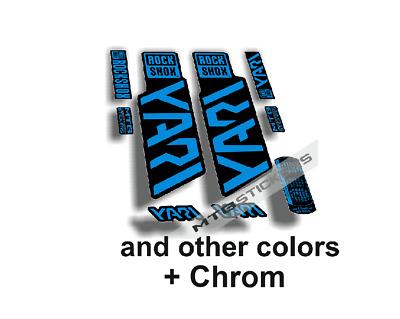 Stickers rock shox fork yari elx29 stickers AUFKLEBER AUTOCOLLANT ADESIVI