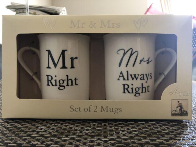 Mr Right & Mrs Always Right Mug Set