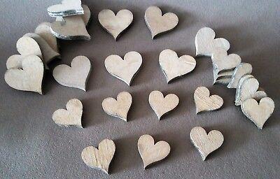 28 Holzherzen Holz Herz Holzscheiben 4cm und 3cm natur Hochzeitsdeko Verlobung