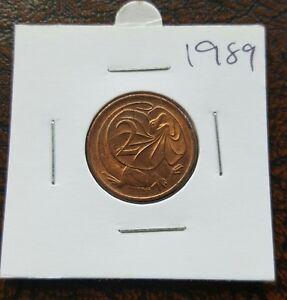 Could Suit PCGS? 1989 2 Cent Australian Decimal Coin Unc X1 Coin Ex Mint Roll