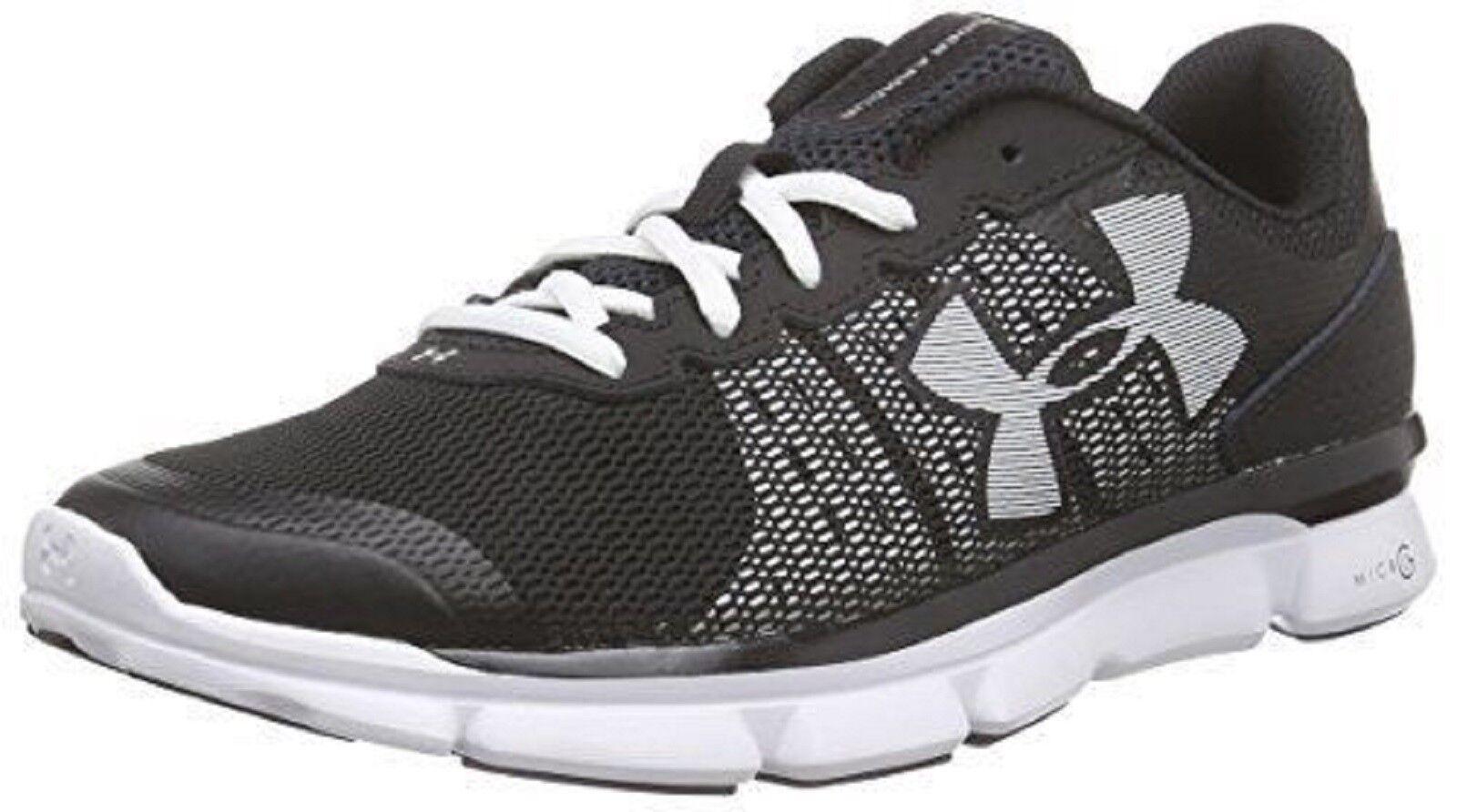 UNDER ARMOUR femmes  'MICRO G SPEED SWIFT' Running Shoe  noir / blanc  Sz. 7.5 M NIB